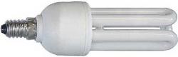 Kompaktní zářivka 230V/11W, E14 3xU, teplá bílá, 2700K