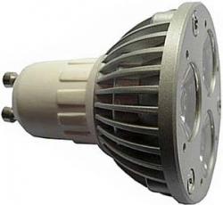 LED žárovka GU10, 3xLED/1W, bílá, 230V/3W
