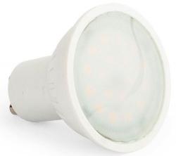 LED žárovka GU10, 10xSMD2835, 230V/7W, teplá bílá
