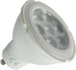 Žárovka LED GU10, 7xSMD2835 1W, 230V/7W, teplá bílá