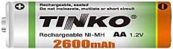 Akumulátor nabíjecí NiMH AA 1,2V/2600mAh, TINKO, 1ks