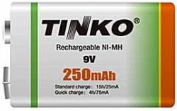 Nabíjecí baterie NiMH 6F22 9V/250mAh TINKO, 1ks