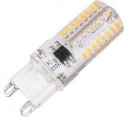 LED žárovka G9, 64x SMD3014, 230V/2,5W, teplá bílá
