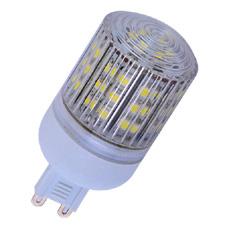 LED žárovka G9, 48x SMD LED, 230 V, teplá bílá 2700K