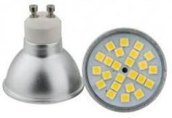 LED žárovka GU10, 24xLED SMD 5050, 230V/5W, studená bílá