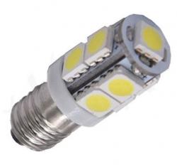 Žárovka LED E10 12V/2W, bílá, 9xSMD5050