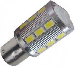 Žárovka LED BaY15D 10-30V/5W bílá, brzdová/obrysová