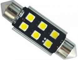 Žárovka LED SV8,5-8 sufit, 12-24V, 6xLED3030, bílá, CAN BUS, dél