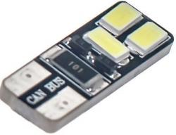 Žárovka LED T10 12V/2W bílá, CAN BUS, 6xSMD 5730