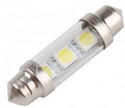 Žárovka LED SV8,5-8 sufit 36mm s ochranným sklem, 12V, bílá