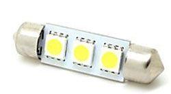 Žárovka LED SV8,5-8 sufit 36mm 12V, bílá