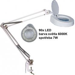 Stolní lupa s LED osvětlením, 5 dioptrií, barva bílá
