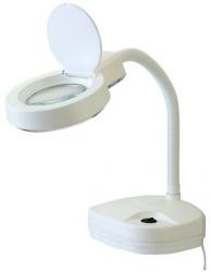 Stolní lupa s osvětlením, 3/8 dioptrií, podstavec, barva bílá